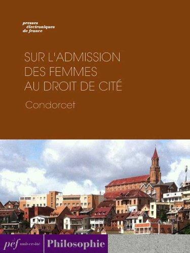 Sur l'admission des femmes au droit de cité par Condorcet