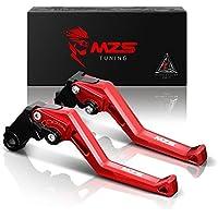 MZS Kurze Brems Kupplungshebel für Moto Guzzi V7 Racer 2011-2017,V7 Classic/Stornello 2008-2017,V7 Stone/Special/Custom 2012-2017,V9 Bobber/Roamer 2016-2017,Breva 750 2004-2009 Rot
