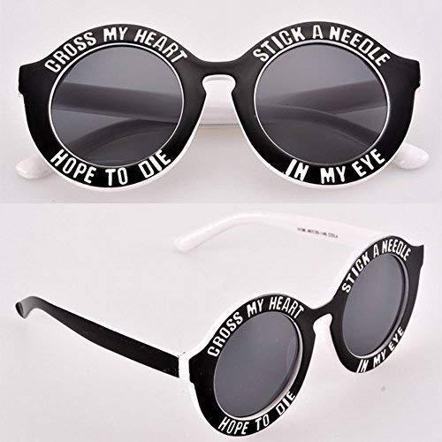 Cross My Herz & Hope To die Stick A Nadel in My Eye Sonnenbrille Schwarz & Weiß