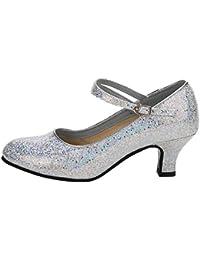 Tanzschuhe Damen Silber Dasongff Damen High Heel Schuhe Salsa Tango Modernes Ballrom Latein Tanzschuhe Latin Dance Damenschuhe Glattleder Ballsaal 5cm