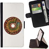 Momo Phone Case / Flip Funda de Cuero Case Cover - Brown Caterpillar Butterfly - Samsung Galaxy S6 Edge Plus / S6 Edge+ G928