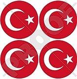 Türkei Türkische Türkiye 50mm (5,1cm) Vinyl bumper-helmet Sticker, Aufkleber X4