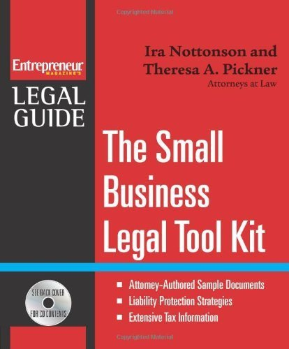 Small Business Legal Tool Kit (Entrepreneur Magazine's Legal Guide) by Ira Nottonson (2007-04-17)