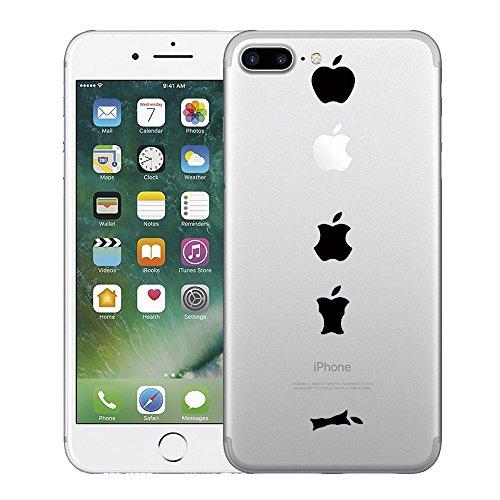 Qissy® TPU Cover iPhone 7 Plus 5,5 pollici Case marche popolari Anti-scratch Gel Silicone Custodia Cherry plum 8