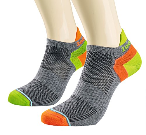 1000 Mile Damen Trainer Liner Socken M grau/orange Inner Arch Liner