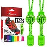 Proworks Lacci Elastici | No Tie Lacci da Scarpe Facili da Legare per Adulti e Bambini e Scarpe da Corsa - Verde