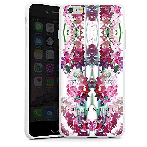 Apple iPhone X Silikon Hülle Case Schutzhülle Blumen Muster Flower Silikon Case weiß