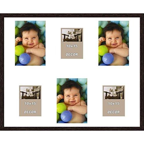 ERIKA Cadre photos pele-mele 6 vues 40x50 cm Wengé