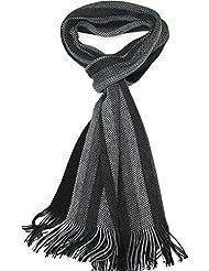 Lovarzi Gestreifter Männer Schal - Winter Schal für Herren