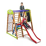Centre d'activités pour enfants'Karapuiz-Plus-3' Espalier suédois Cage à grimper Toboggan Echelle de corde ...