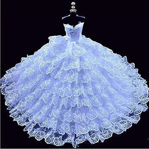 Youvinson Herrliche handgemachte Kleidungen gemacht für Barbie-Puppen (Weiß)