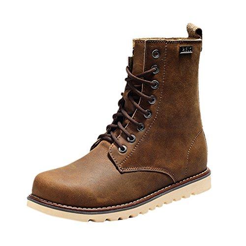 Insun , Herren Stiefel, braun - Coffee - Größe: 40 - Cold Weather Combat Boots
