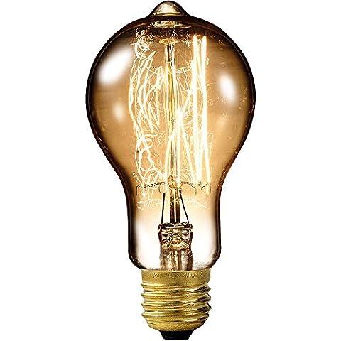 Luminea Vintage-Schmucklampe, gewölbt, mit gitterförmigem Glühdraht