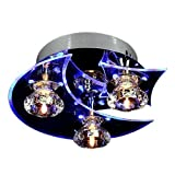 Beautihome Moderne LED Cristal Encastré Plafonnier Luminaire pour Hall, Étude, Bureau, Chambre, Salon