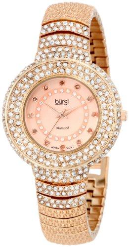 27639c254519af Burgi Reloj de Diamond Accent Crystal Fashion para Mujer
