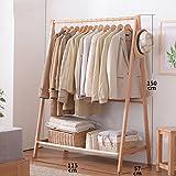 LYM Stehender Huthänger Massivholz Kleiderständer, Stehend Mantel Hut Rack Kleiderbügel zusammenklappbar Regal Bodenständer ( größe : 115*57*150CM )