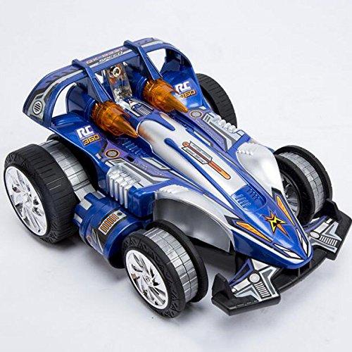 Multi-Modus 360 ° Geschwindigkeit Dump Allradantrieb Drift Rotierenden Drahtlosen Fernbedienung Spielzeugauto Allrad-Flip,Blue