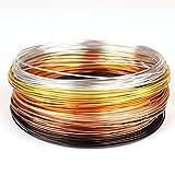 """Creacraft Filo di gioielli Set""""Autunno Dorato"""": 6 colori in rotoli (per 5 metri) - Filo d'alluminio anodizzato (1 mm)"""