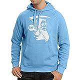lepni.me Sweatshirt à capuche manches longues Décès (Large Bleu Multicolore)