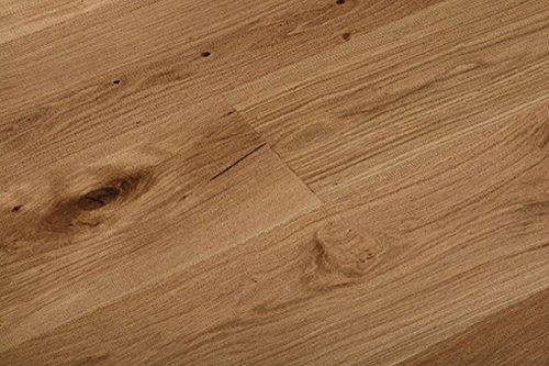 Woodstore Handelsgesellschaft WoodoBobbin-PAPQ1525057 - Parquet europeo Rovere 15 x 250 x 1800 mm, ossidato oliato, spazzolato (2,25 m2/confezione), marrone, taglia unica