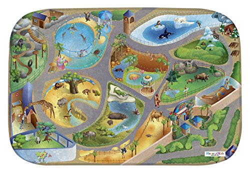 House Of Kids 86027-E3 - Playmat Ultra Soft Zoo Connect, 130 x 180 cm