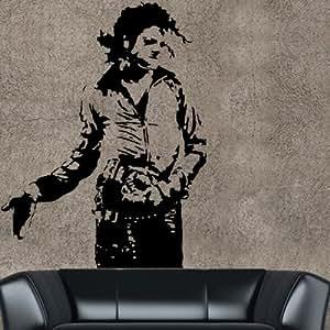 Stickers Géant Michael Jackson Tribute ref3 - 130cm/100cm-couleur au choix