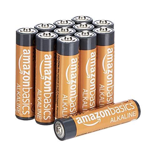 AmazonBasics Lot de 12 piles alcalines Type AAA 1,5 V 1340 mAh (design variable)