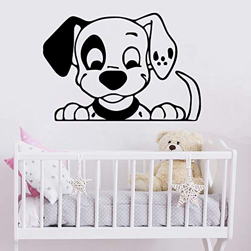 Geschnitzte Hund Aufkleber Moderne wandkunst Wand Applique Vinyl Aufkleber Dekoration Wohnzimmer Schlafzimmer PVC wandtattoo 33,6 cm x 48 cm -