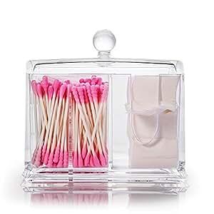 bo te coton tige pad acrylique transparent bo te de rangement maquillage cosm tique. Black Bedroom Furniture Sets. Home Design Ideas