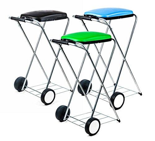 *Unbekannt Müllsackständer fahrbar, mobil, Doppelrahmen, Säcke von 60 bis 130 l Volumen, lieferbar in schwarz, grün und blau*