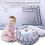Diuspeed lit de bébé Pare-Chocs Serpent, lit de Sommeil Pare-Chocs Serpent éléphant Imprimer lit d'enfant Berceau de sécurité Collision barrière de Coton Oreiller