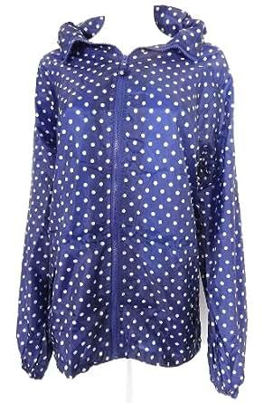 Ladies Foldaway Pac A Mac Raincoat Jacket Polka Spot