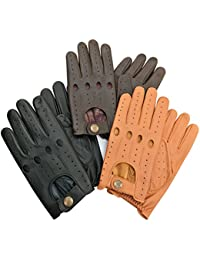 MEN'S TOP QUALITY COW NAPA SOFT PRIME LEATHER DRIVING GLOVES UNLINED 513-514