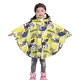 Hibote Cute Stars Regenmantel für Kinder Kinder undurchlässig Baby Regen Mantel Poncho Jacken Cap Yellow Cloud XL