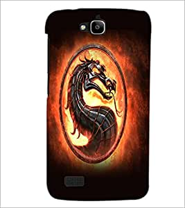 PrintDhaba Dragon D-5523 Back Case Cover for HUAWEI HONOR HOLLY (Multi-Coloured)