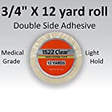 No Messy Residue 3/4 x 12 Yard Roll Toupee Tape by Authentic Walker Tape Co. 3M clear NOT GENERIC Brand