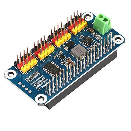 MakerHawk PWM-Servomotortreiber IIC Modul 16 Kanal PWM Ausgänge 12 Bit Auflösung I2C Schnittstelle Kompatibel mit Raspberry Pi Null/Null mit Null WH / 2B / 3B / 3B + und Roboter