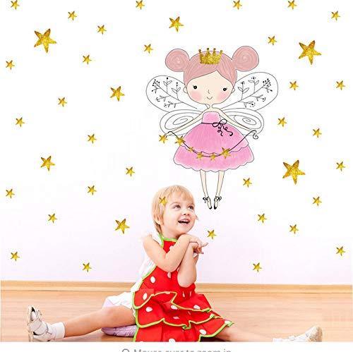 Sterne Farbe Wandaufkleber Für Kinderzimmer Dekoration Krone Mädchen Poster Wandkunst Aufkleber Hintergrund DIY Wohnkultur ()