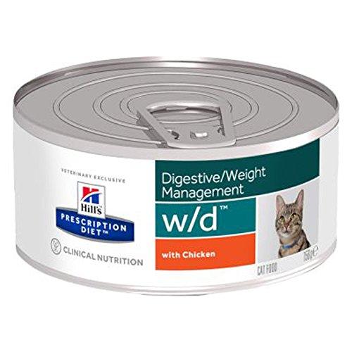 HILL'S PRESCRIPTION DIET W/d con pollo in pezzetti umido gatto gr. 156
