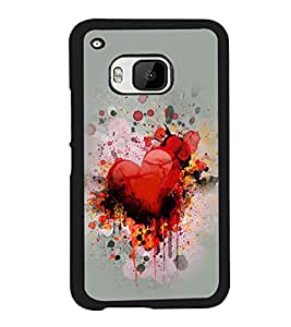 PRINTVISA Abstract Heart Love Case Cover for HTC One M9