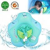 luerme Baby Schwimmen Ring mit Sicher Sitz, verstellbare Baby Schwimmbrett Neugeborenen aufblasbare Schwimmbad Ring für 3months-6Jahren Kinder, S