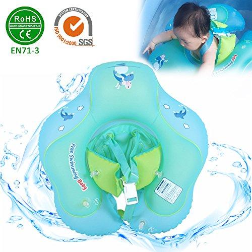 luerme Baby Schwimmen Ring mit Sicher Sitz, verstellbare Baby Schwimmbrett Neugeborenen aufblasbare Schwimmbad Ring für 3months-6Jahren Kinder, Large