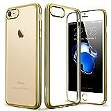 ESR iPhone 7 Hülle (4,7 Zoll), Twinkler Series [0.8mm Dünne] Weiche Silikon Hülle Transparent TPU Zurück mit Überzug Farbig Rahmen Schutzhülle für iPhone 7 (Champagner Gold)