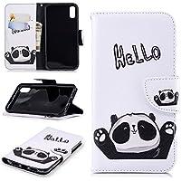 Ostop Brieftasche Leder Hülle für iPhone Xr,Standfunktion Geldbörse Hello Panda Weiß PU Muster Magnetverschluss... preisvergleich bei billige-tabletten.eu