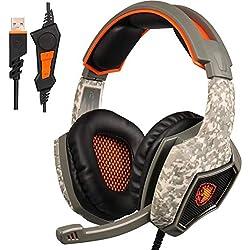 Cebbay Liquidación ¡Venta Caliente! Auriculares para Juegos Stereo Wrap Headband Microphone 1.5m (Camuflaje)