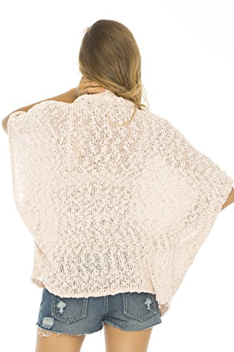 Back From Bali - Poncho - Manches 3/4 - Femme rose clair