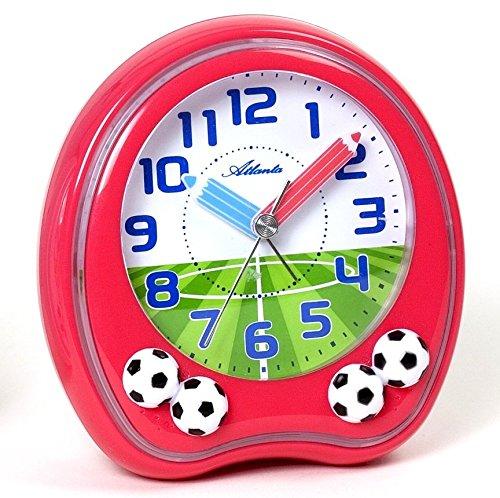 Kinderwecker Fußball Analog Fußball Rot - Atlanta 1719-1F