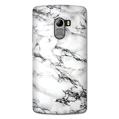 Crazyink White Marble Premium 3D Back Cover For Lenovo K4 Note