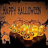 LILICAT Halloween Party Ghost festival Pumpkin LED Battery lantern string Decoration Pumpkin String Lights Halloween Decoration Lights With 10-20 LED Beads (Orange B, 10 PC)