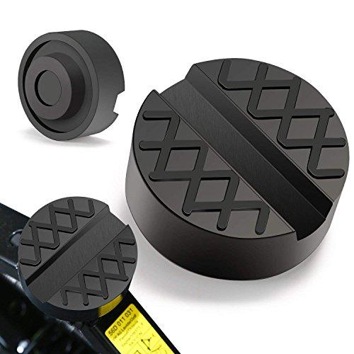 PullPritt Tampone Gomma Universale in Gomma 65x33 mm Auto con scanalatura Evita Graffi Danni Universale Jack Pad (2pcs)